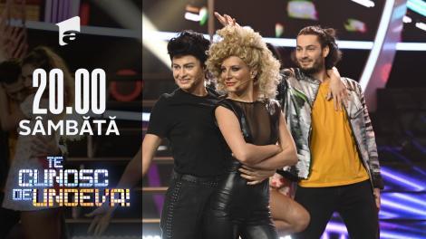 """Ana Baniciu și Raluka se transformă în John Travolta & Olivia Newton John - """"You're The One That"""", la Te cunosc de undeva!"""