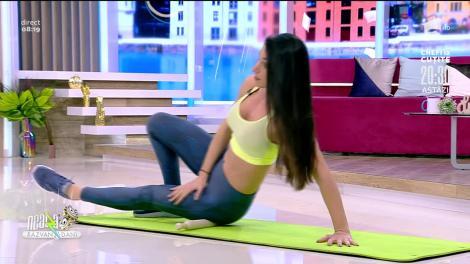 Antrenament inedit și masaj anticelulitic cu făcălețul! Fitness cu Diana Stejereanu