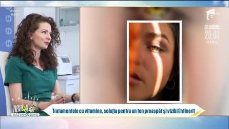 Tratamentele cu vitamine, soluția pentru un ten proaspăt și vizibil întinerit