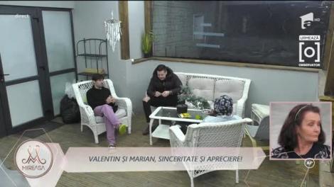 Marian și Valentin, apreciere sub forma complimentelor