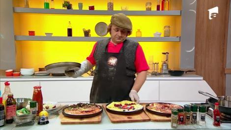 """Pizza-portret! Chipurile lui Bontea, Scărlătescu și Dumitrescu, """"desenate"""" pe pizza cu ingrediente speciale"""
