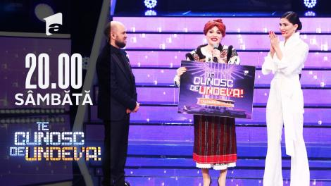 """Mirela Vaida a câștigat a opta ediție a sezonului 16 """"Te cunosc de undeva!"""""""