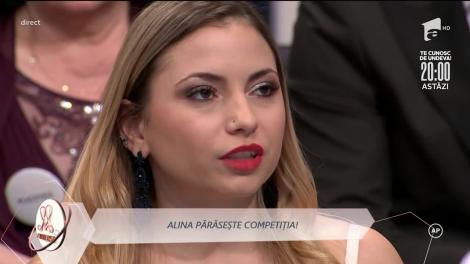 Alina este eliminată din casa Mireasa! Ultimele ei declarații