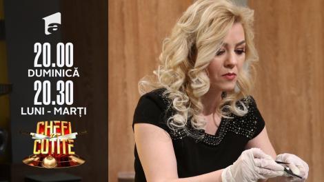 Elena Alexandra Cucu gătește lapte de pasăre, la Chefi la cuțite