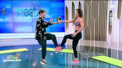 Antrenament cu partener pentru coapse și fesieri! Fitness cu Diana Stejereanu