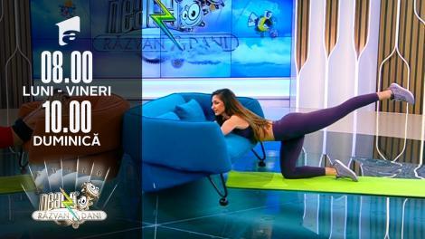 Antrenament pentru coapse și fesieri de pe canapeaua ta de acasă! Fitness cu Diana Stejereanu