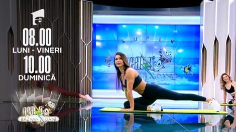 Cel mai bun exercițiu de stretching. Fitness cu Diana Stejereanu