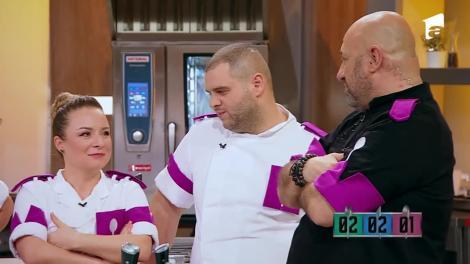 """Echipa albastră a câştigat detaşat battle-ul 6! Chef Scărlătescu: """"Nu aveai cum să-l baţi p-ăsta!"""""""
