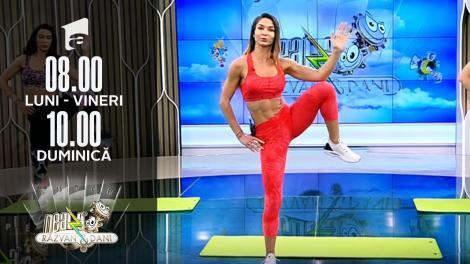 Antrenament full body, piramidal. Fitness cu Diana Stejereanu