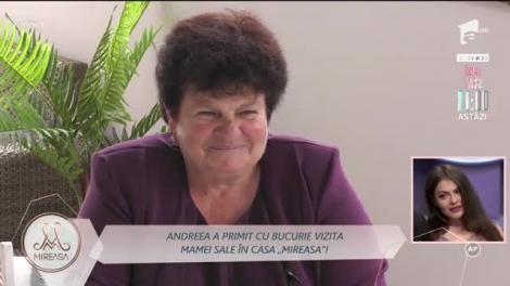 Andreea a primit cu bucurie vizita mamei sale în casa Mireasa!