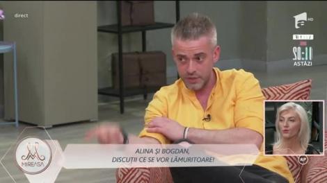 """Alina și Bogdan, discuții ce se vor lămuritoare! """"Numai noi doi știm prea bine ce s-a întâmplat"""""""