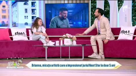 Brianna, micuța artistă care a impresionat juriul Next Star la doar cinci ani: Când o să fiu mare, vreau să fiu doctoriță!
