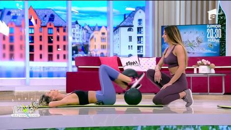 Antrenament pentru tot corpul. Fitness cu Diana Stejereanu: Ne solicită cel mai mult brațele!