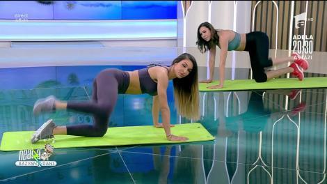 Antrenament pentru picioare. Fitness cu Diana Stejereanu: Este super solicitant!