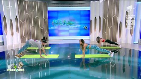 Fitness la Super Neatza! Cătălin Rizea s-a antrenat alături de Diana Stejereanu