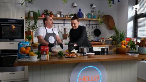 Tartă cu cremă de lămâie, rețeta lui chef Roxana Blenche, la Hello Chef. Romică Ţociu, invitatul ediției