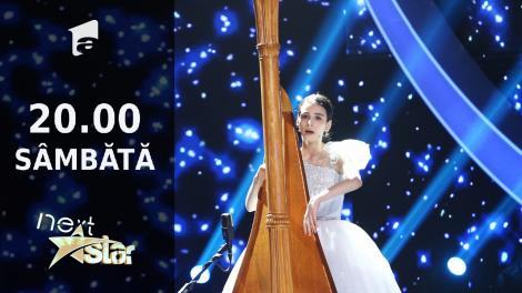 Next Star - Sezonul 10: Maria Ene - interpretează la harpă, vocal și dansează