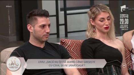 Liviu și Maria, o nouă situație tensionat. Ce a răspuns concurentul când a fost întrebat dacă mai este într-o relație