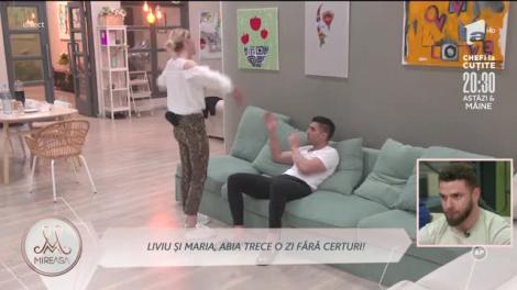 Liviu și Maria, un nou val de reproșuri: Nu știu dacă ieșim împreună din acest concurs!