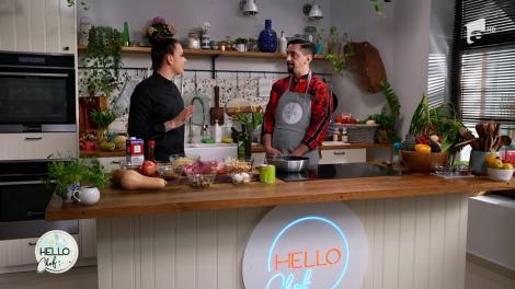Roxana Blenche şi Cosmin Natanticu gătesc împreună la Hello Chef