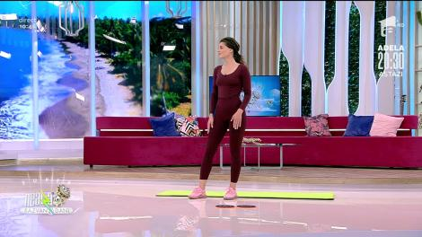 Cum să fii mereu în formă! Exerciții pentru brațe, coapse și abdomen cu Iuliana Dabija