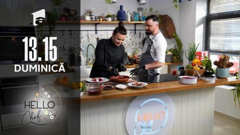 Roxana Blenche și Cătălin Rizea fac Lava Cake la Hello Chef