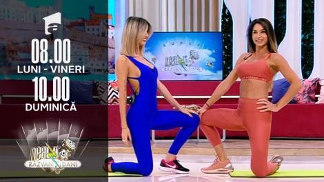 Exerciții pentru spate. Fitness cu Diana Stejereanu