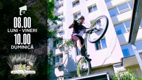 Gabi Orban, recordman mondial la mountain bike trial, super show la Neatza