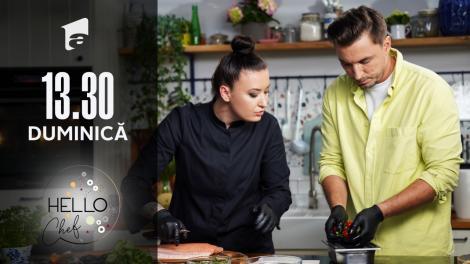"""Roxana Blenche şi medicul Mihail Pautov fac piure de conopidă! Cum arată platingul reţetei """"Somon în crustă de măsline"""""""
