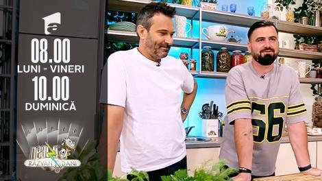 """Nicolai Tand și Cătălin Rizea fac echipă la Neatza de Weekend. Au gătit """"Hotdog"""" şi """"Somon marinat"""""""