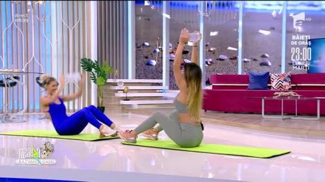 """Antrenament pentru tot corpul. Fitness cu Diana Stejereanu: """"Avem nevoie doar de o sticlă de apă"""""""
