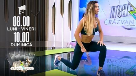 Antrenament pentru tot corpul. Fitness cu Diana Stejereanu