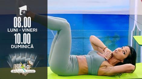 Neatza de Weekend, 11 iulie 2021. Antrenament pentru abdomen. Fitness cu Diana Stejereanu