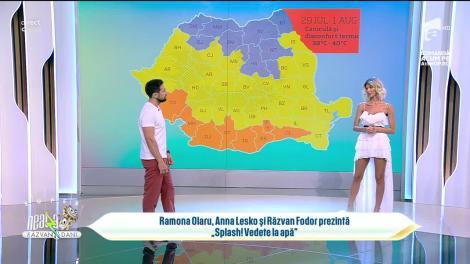 """Super Neatza, 30 iulie 2021. Ramona Olaru, co-prezentator al emisiunii """"Splash! Vedete la apă"""": Voi sări și eu, deși îmi e frică să sar de la înălțime"""
