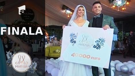 Finala Mireasa sezonul 3, 1 august 2021. Marii câștigători ai premiului de 40.000 de euro sunt Maria şi Liviu