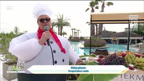 """Super Neatza, 3 septembrie 2021. Rețeta lui Vlăduț: desertul """"Strugurii iubesc vanilia"""""""