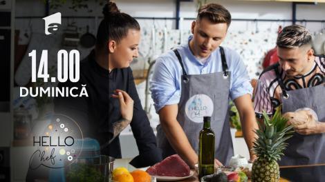 Hello Chef sezonul 2, 5 septembrie 2021. Roxana Blenche, Keed și Cristian Boca fac tartat de ton