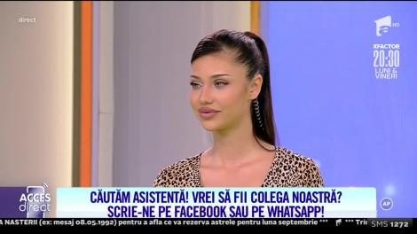 Acces Direct, 13 septembrie 2021. Roxana Ferariu dă probă de asistentă tv