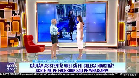 Acces Direct, 15 septembrie 2021. Bianca Ciuraru dă probă de asistentă TV