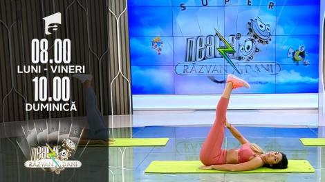 Super Neatza, 16 septembrie 2021. Fitness cu Diana Stejereanu: Antrenament complet pentru abdomen