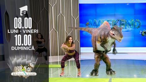 Neatza de Weekend, 26 septembrie 2021. Fitness cu Diana Stejereanu și dinozaurul Rexy!!