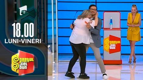 Preţul cel bun sezonul 1, 8 octombrie 2021. Liviu Vârciu, luat în brațe de o concurentă. Reacția prezentatorului TV