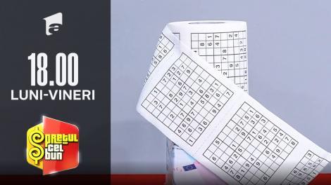Preţul cel bun sezonul 1, 8 octombrie 2021. Care este prețul cel bun al unei hârtii igienice cu imprimeu de Sudoku!