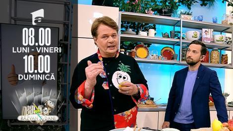 Super Neatza, 8 octombrie 2021. Rețeta lui Vlăduț - Prăjitură de casă cu mere și nuci