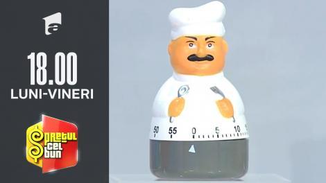 Preţul cel bun sezonul 1, 10 octombrie 2021. Liviu Vârciu a comparat un timer de gătit cu chef Cătălin Scărlătescu