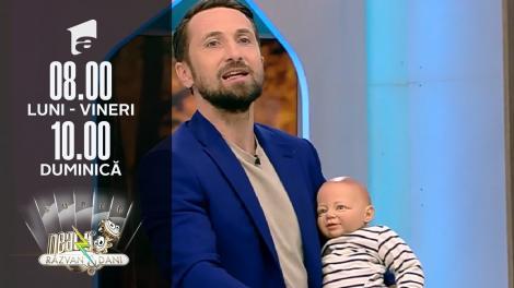 Super Neatza, 15 octombrie 2021. Dani Oțil l-a prezentat pe Bulișor: El e principalul vinovat pentru că am un copil!