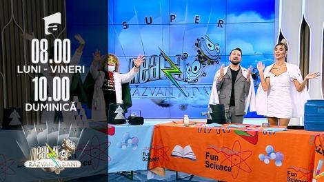 Super Neatza, 22 octombrie. Profesorii Trăsniți, un nou super experiment pentru cei mici, dar și cei mari
