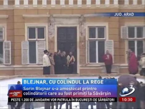 Sorin Blejnar, cu colindul la Regele Mihai