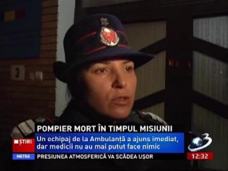 Pompier din Botoşani, mort în timpul misiunii