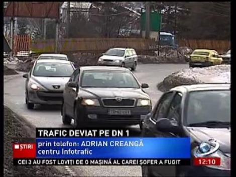 Traficul rutier pe DN1 este deviat din cauza aglomeraţiei, prin Săcele, Cheia